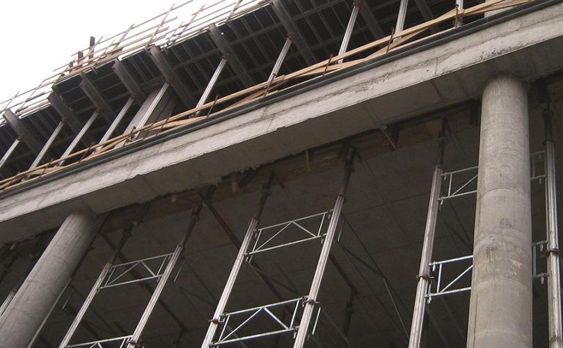 ستونهای فولادی پر شده با بتن