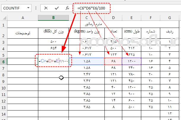 Cell References in Excel آدرس دهی در اکسل 1