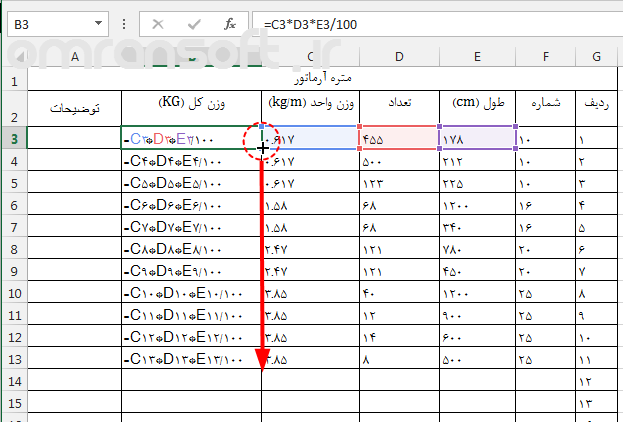 Cell References in Excel آدرس دهی در اکسل 4