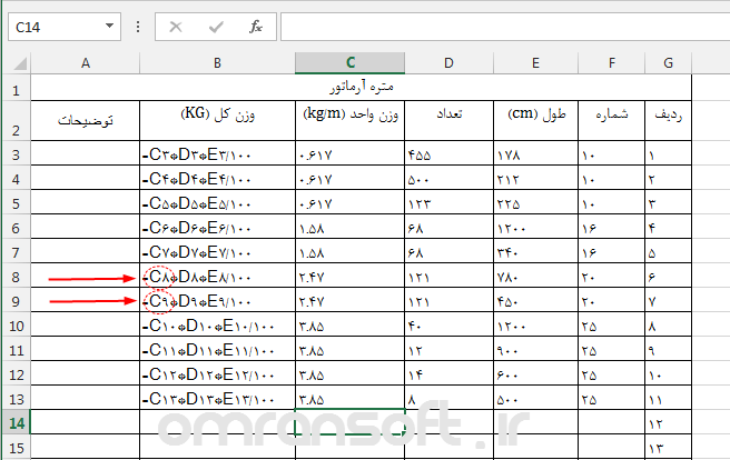 Cell References in Excel آدرس دهی در اکسل 5