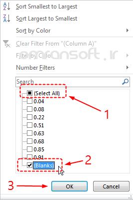 Remove Blank Rows and Columns حذف سطرها و ستونهای خالی در اکسل (11)